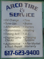 Arco Tire & Service Services | 18 Clarendon Ave, Somerville MA 02144 | 617-623-9400